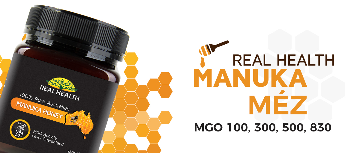 Real health manuka mézek
